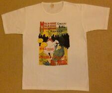 Vintage New Fine Art Toulouse Lautrec Women's white T-shirt M.L.XL. Moulin Rouge