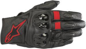 Alpinestars Celer V2 Leather Gloves Black/Red X-Large 3567018-1030-XL 3301-3453