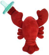 Mary Meyer Wubbanub Lobbie Lobster Soft Toy and Pacifier