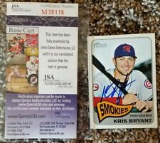 Chicago Cubs Kris Bryant Signed 2014 Topps Heritage Minors #30A Card (JSA COA)