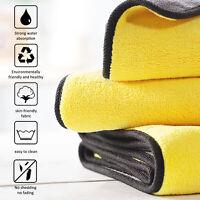 Microfiber Car Wash Towel Cleaning Drying Rag Polishing Detailing Cloth Large US