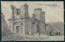 L'Aquila Avezzano Terremoto Caserma XIII Reggimento Fanteria cartolina QT7619