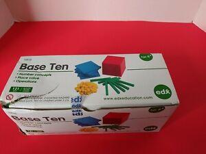 edx Education Four Color Plastic Base Ten Set 121 pcs Early Math for Kids NOB