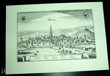 Nördlingen: alte Ansicht Merian Druck Stich 1650 Panora