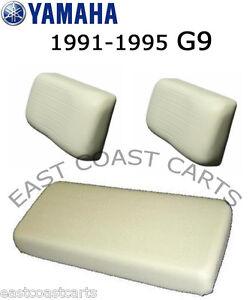 Yamaha 1991-1995 G9 Golf Cart IVORY Seat Bottom & Seat Back Cover Set