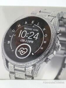 NEW Michael Kors Access Gen 5 Bradshaw Extreme Glitz Silver Smartwatch MKT5124