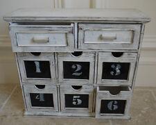 8 Cassetto Armadio Rustico Francese Stile Vintage Shabby chic sul petto di archiviazione Unità Box