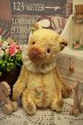 Artist teddy bear, antique bear, vintage bear, beige bear, 4in, ooak mini bear