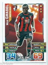 2015 / 2016 EPL Match Attax Base Card (13) Max GRADEL AFC Bournemouth