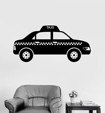 Vinyl Wall Decal Taxi Service Driver Stickers Mural (ig4157)
