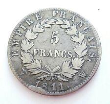 NAPOLEON Ier  5 francs 1811 W
