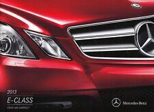 MERCEDES E-KLASSE E-CLASS Coupe Cabrio C207 Prospekt Brochure USA 2013 B12