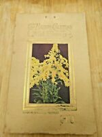 Calendar 1914 Nature Poems, Wildflower Def. & Photos +40 Pages Vintage Complete