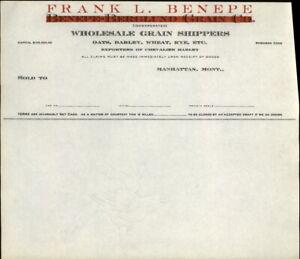 Manhattan Montana Company Bill Benepe-berglund Grain Co. Frank L. Benepe