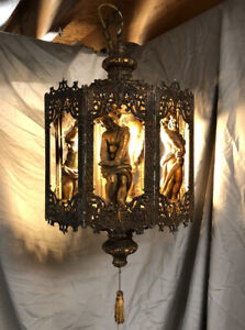 🔥 *RARE* Late 19th-Century Gothic Cherub Sanctuary Chandelier *TESTED + WORKS*