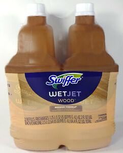 Swiffer WetJet Liquid Wood Cleaner Solution, Quickdry Formula, 1.25L (2 Pack)
