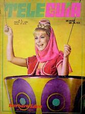 TV Guide 1968 I Dream Of Jeannie Barbara Eden International Tele Guia VG COA