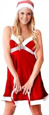 Womens Sexy Red & White Christmas Xmas Sparkle Costume Size 8 - 10
