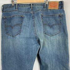 Levis 505 Regular Fit Denim Jeans Straight Leg Zipper Fly Red Tab 40 X 30