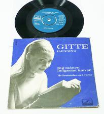"GITTE Haenning - 1962 DK HMV PS 45 ""Sig Manen Langsomt Haever"" 60s POP Schlager"