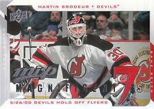 08-09 UPPER DECK MVP MAGNIFICENT 7s MARTIN BRODEUR DEVILS *8228