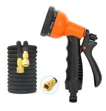 8 Function Spray Gun Nozzle Soft Grip Universal Brass Hose Water Sprayer NEW