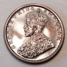- 1919 B British India George V Silver Half 1/2 Rupee Choice Proof Restrike