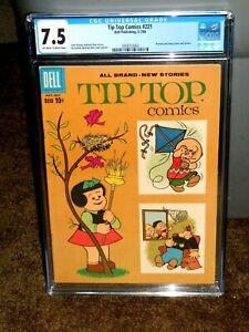 RARE TIP TOP COMICS #221 PEANUTS COVER CGC 7.5 DELL