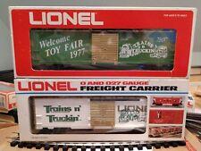 Lionel 1977 Toy Fair Trains 'n Truckin' Box Car 6-7807 w/ bonus 6-7803 Box Car