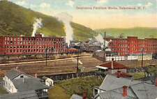 Salamanca New York Furniture Works Birdseye View Antique Postcard K52559