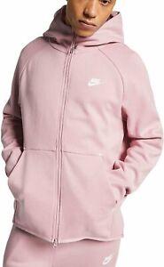 New NWT Nike Sportswear Tech Fleece Zip Hoodie in Plum Chalk Pink Zip Up Large L
