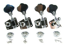4pc. Large Chrome Bass Guitar / Diddley Bow Tuners with hardware