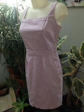 ALAIN MANOUKIAN  robe courte droite bretelle coton violet bouton taille 40