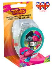 Reloj Digital Trolls, Con Luz Led, trols/sucursal y Poppy Reloj con licencia oficial