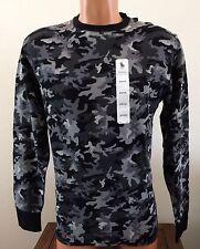 Polo Ralph Lauren Thermal Crew Neck Long Sleeve Shirt Mens Small Black Camo