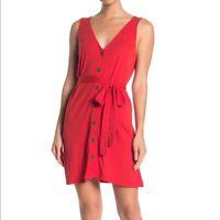 Puella Soraya Dress Size Small Red Motif NW ANTHROPOLOGIE Tag