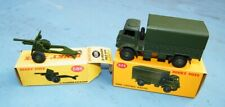 DINKY TOYS 623 / 686 ARMY COVERED WAGON / 25-POUNDER FIELD GUN  MIB!!