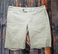 WOMENS GAP STRETCH SHORTS STRAIGHT CUT BERMUDA WALKING SIZE 8 PLAID