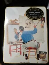 Norman Rockwell Triple Self Portrait Sealed Stationary Set Collectible Tin New