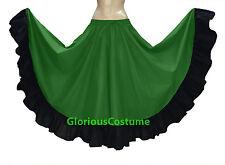 Black & Red Cotton Gypsy Flamenco Skirt 12 Yard BellyDance Tribal Ethenic Boho