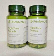 Two pack: Nu Skin Nuskin Pharmanex NightTime Night Time Formula 60 Capsules x2