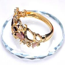 Leaves14K Gold Plated Crystal Bracelets&Bangle For Women Fashion Jewelry E686