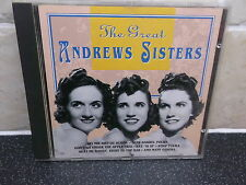 The Great Andrews Sisters - 16 track CD