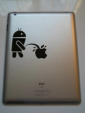 1 x Android Wee on Apple Decal - Vinyl Sticker for iPad iPad Mini tablet Pro Air