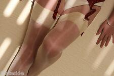 Aristoc Sheer High Shine Confetti Cream Silk GLOSS Wedding Bridal Stockings M/L