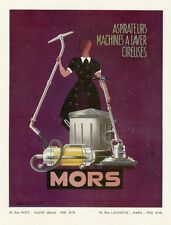 """""""MORS"""" Annonce originale entoilée par Emmanuel POIRIERannées 30  31x41cm"""