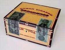 Humidor Angelo High Gloss CubanCigarro ca 50 Zigarren - Acrylpolymere-Befeuchter