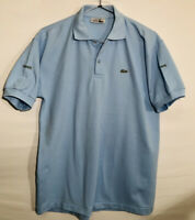 Vintage Chemise Lacoste 🐊 Men's Short Sleeve Polo Shirt XL Made In France Blue