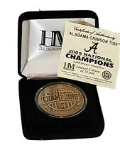 Highland Mnt Alabama Crimson Tide 2009 National Championship Coin. Solid Bronze