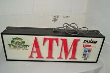 """36""""X 12"""" LARGE Lighted 2-SIDED Money ATM Lighted Sign Business Store Commercial"""